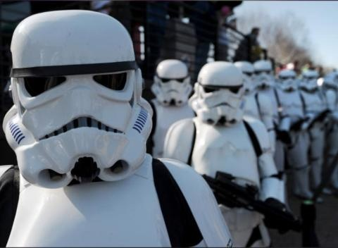 News video: Star Wars Episode VII Has Stormtroopers, Thumbs Up From Kevin Smith