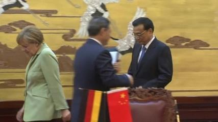 News video: German Chancellor meets Chinese Premier in Beijing